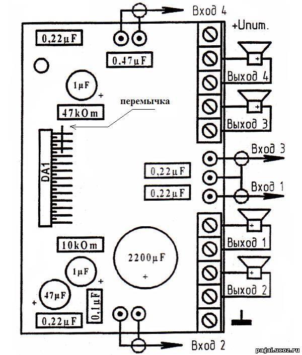 ...V. На микросхему нужно установить теплоотвод площадью не мение 400 кв...